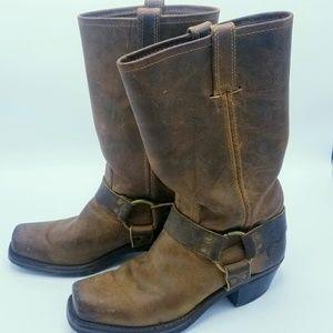 Frye Harness Cognac boots